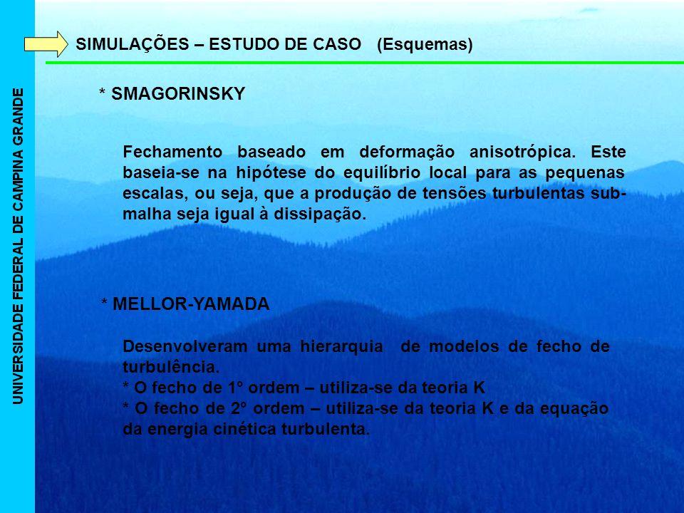 SIMULAÇÕES – ESTUDO DE CASO (Esquemas)
