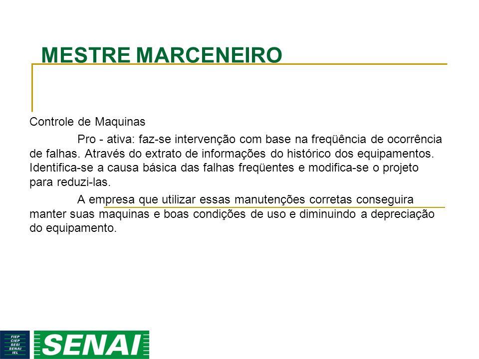 MESTRE MARCENEIRO Controle de Maquinas