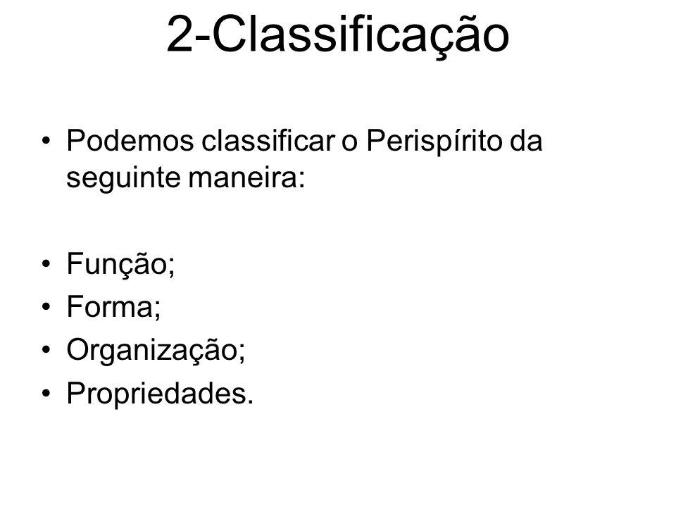 2-Classificação Podemos classificar o Perispírito da seguinte maneira: