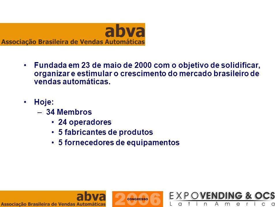 Fundada em 23 de maio de 2000 com o objetivo de solidificar, organizar e estimular o crescimento do mercado brasileiro de vendas automáticas.
