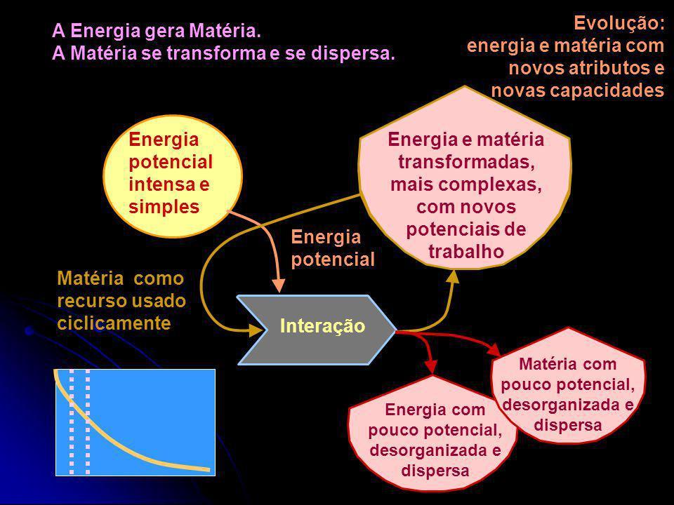 Evolução: energia e matéria com novos atributos e novas capacidades