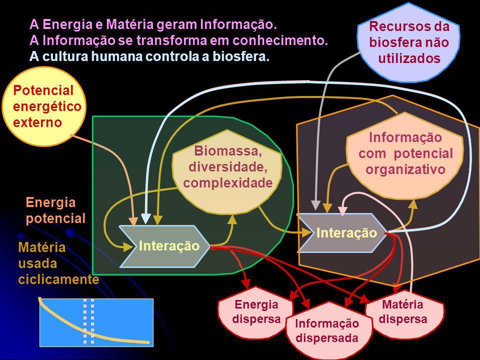 Recursos da biosfera não utilizados