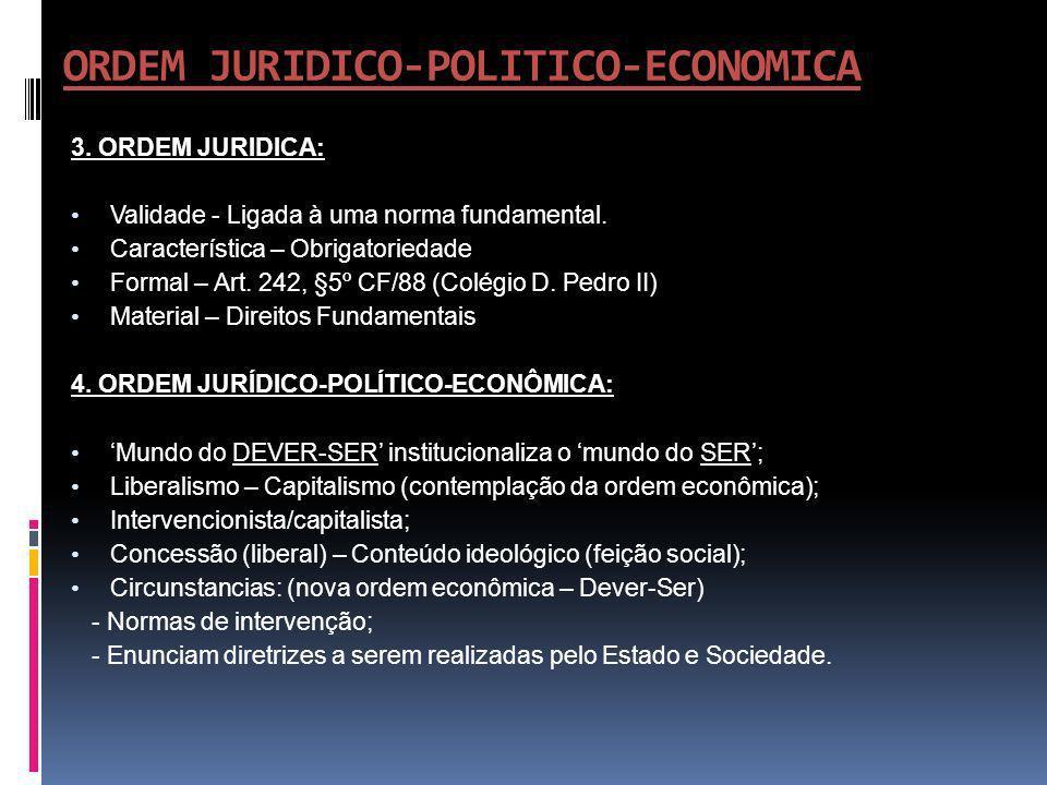 ORDEM JURIDICO-POLITICO-ECONOMICA