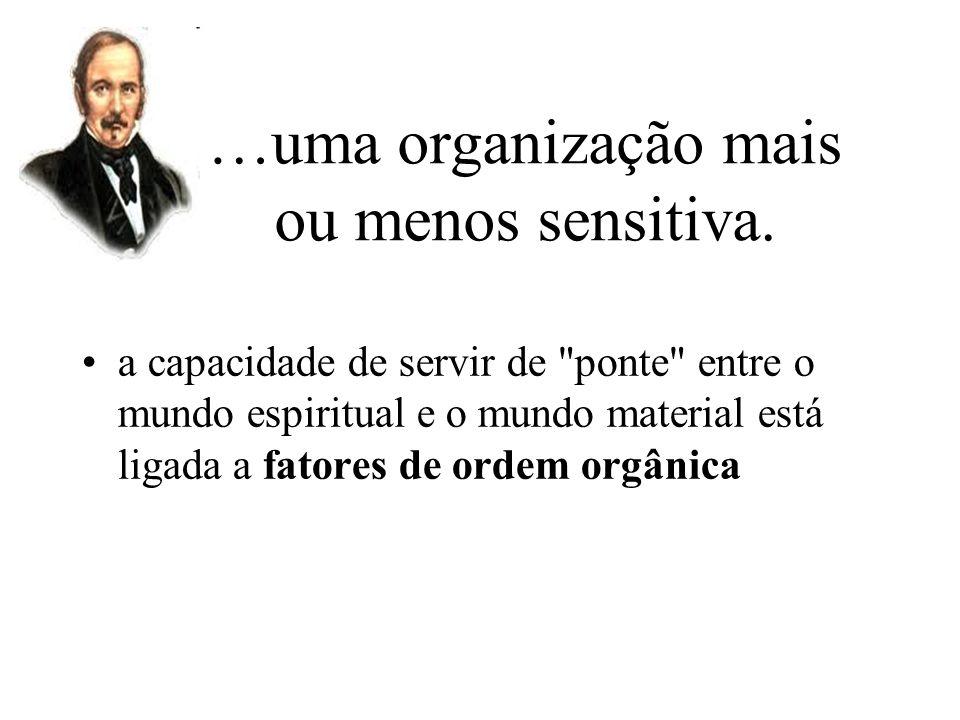 …uma organização mais ou menos sensitiva.