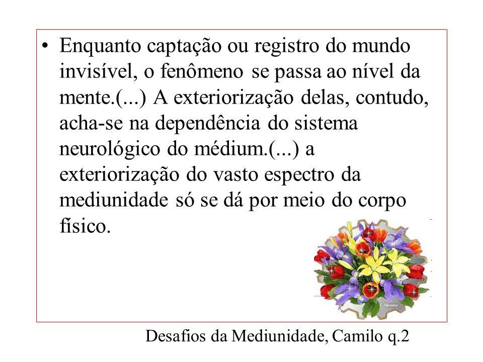 Desafios da Mediunidade, Camilo q.2