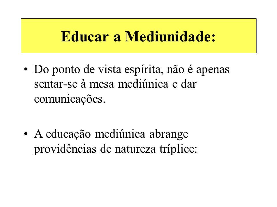 Educar a Mediunidade: Do ponto de vista espírita, não é apenas sentar-se à mesa mediúnica e dar comunicações.