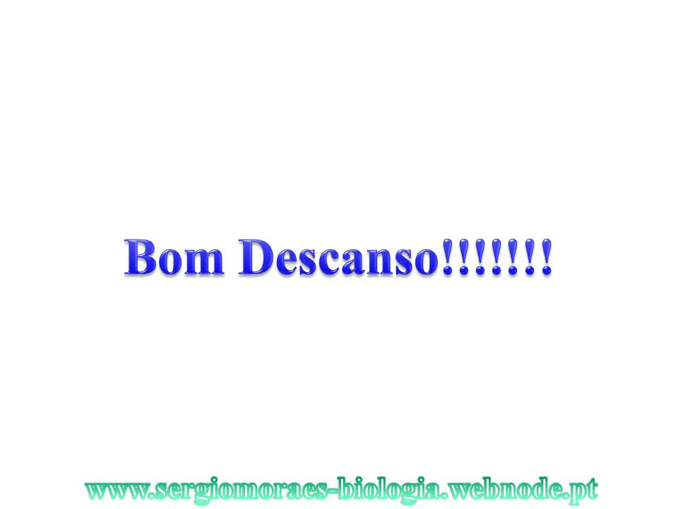 Bom Descanso!!!!!!! www.sergiomoraes-biologia.webnode.pt