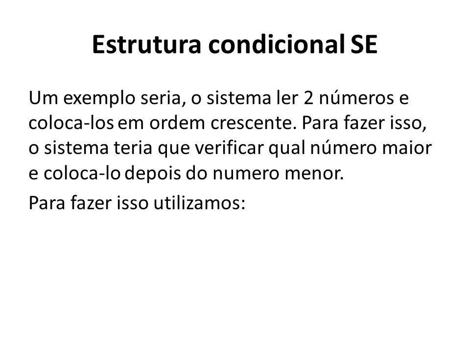 Estrutura condicional SE