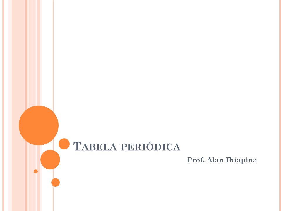 Tabela periódica Prof. Alan Ibiapina