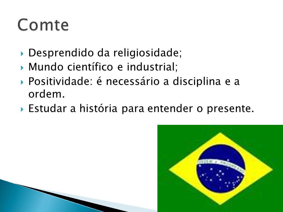 Comte Desprendido da religiosidade; Mundo científico e industrial;