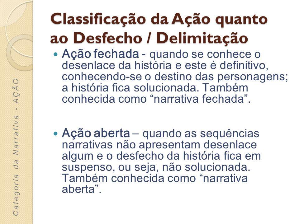 Classificação da Ação quanto ao Desfecho / Delimitação