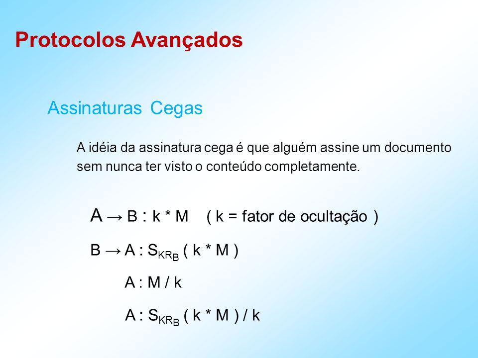 A → B : k * M ( k = fator de ocultação )
