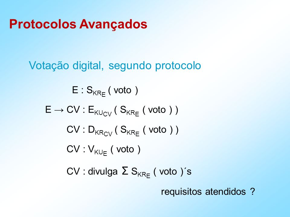 Votação digital, segundo protocolo