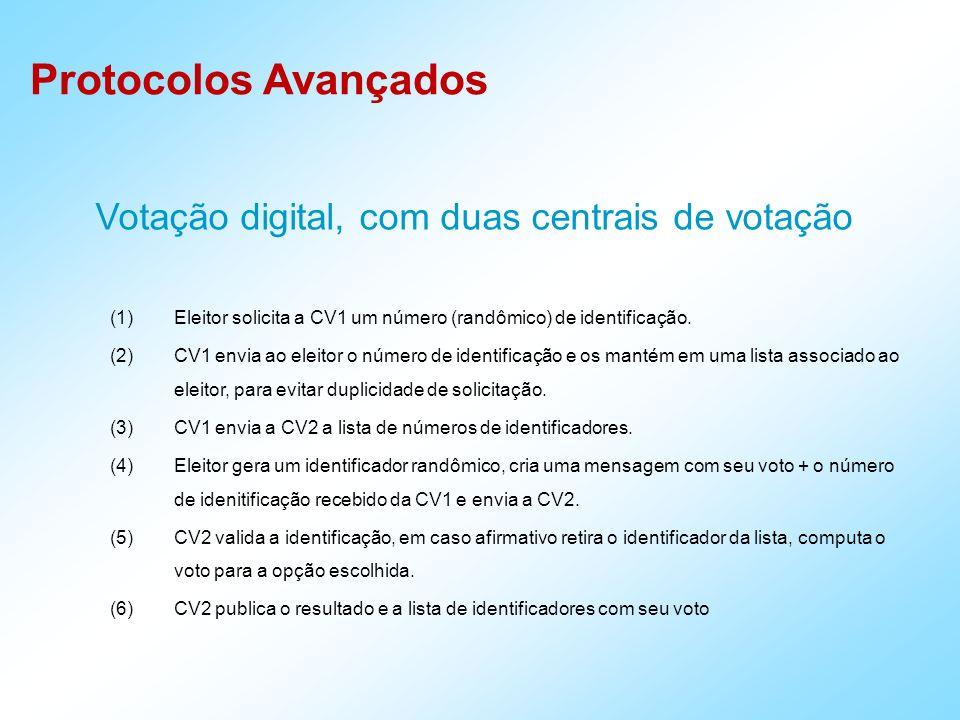 Votação digital, com duas centrais de votação