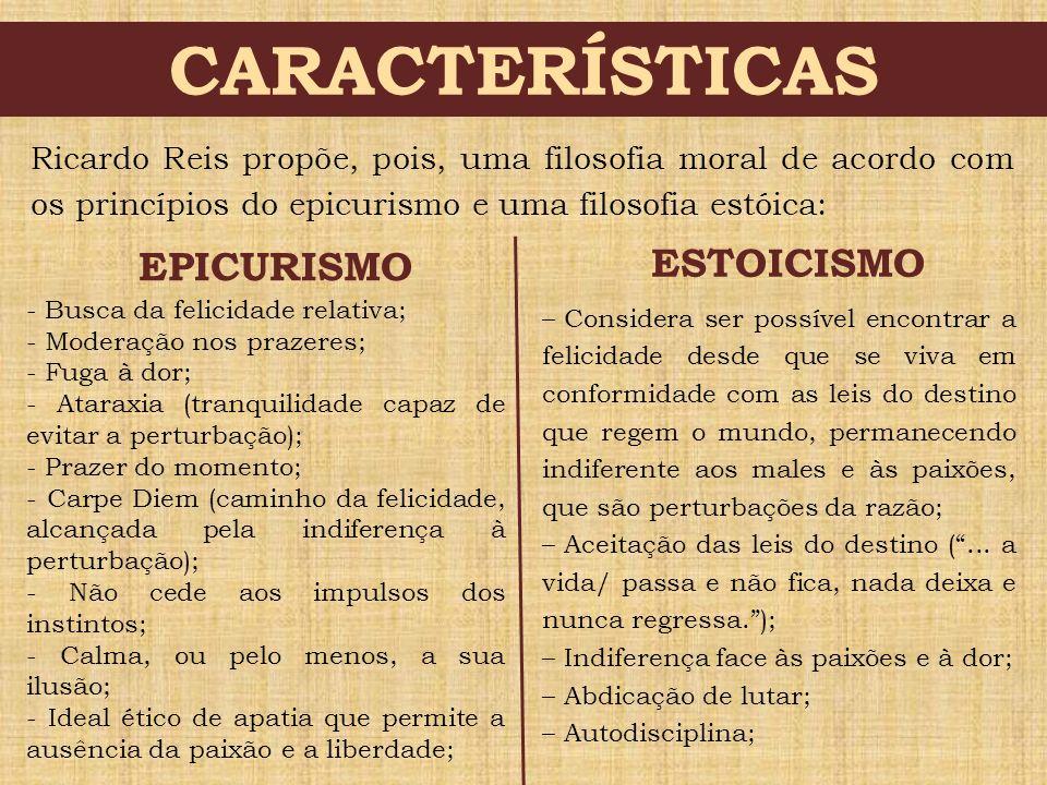 CARACTERÍSTICAS ESTOICISMO EPICURISMO