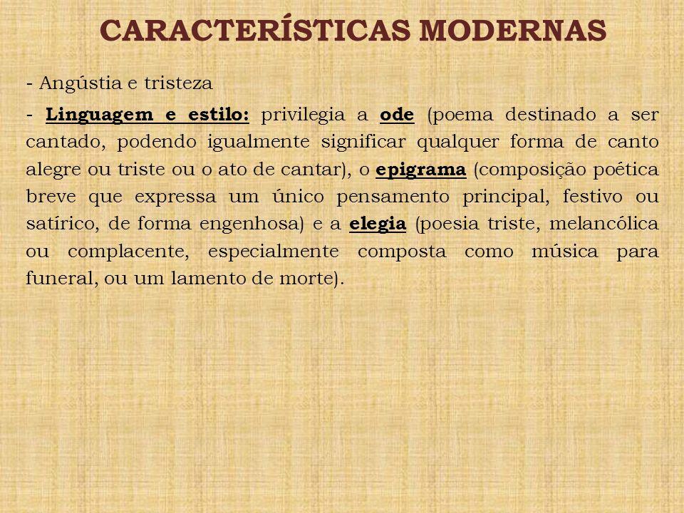 CARACTERÍSTICAS MODERNAS