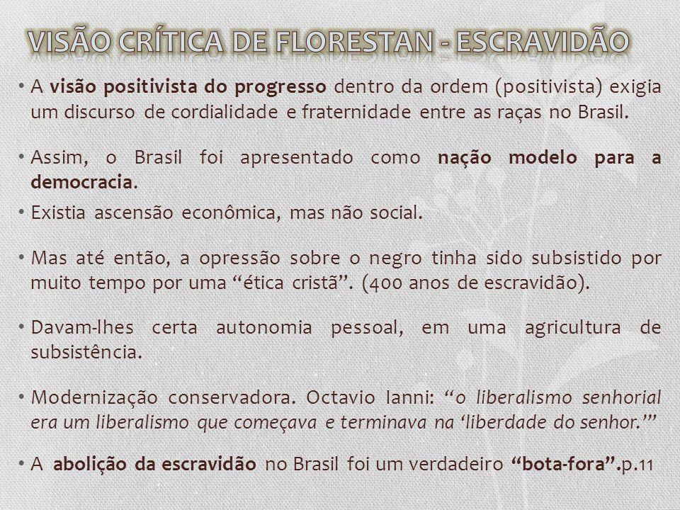 VISÃO CRÍTICA DE FLORESTAN - ESCRAVIDÃO