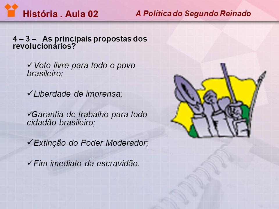 História . Aula 02 Voto livre para todo o povo brasileiro;