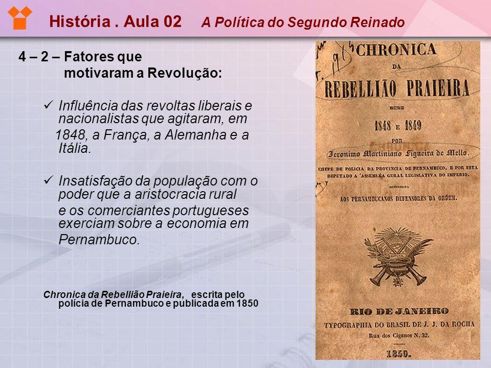 História . Aula 02 A Política do Segundo Reinado