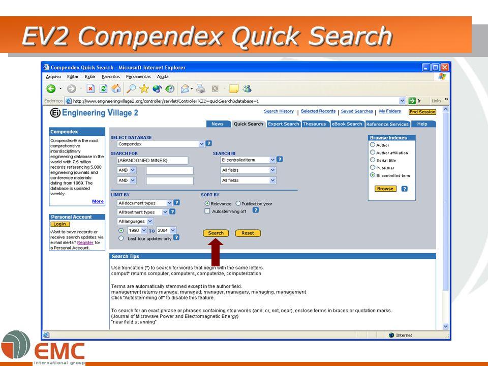 EV2 Compendex Quick Search
