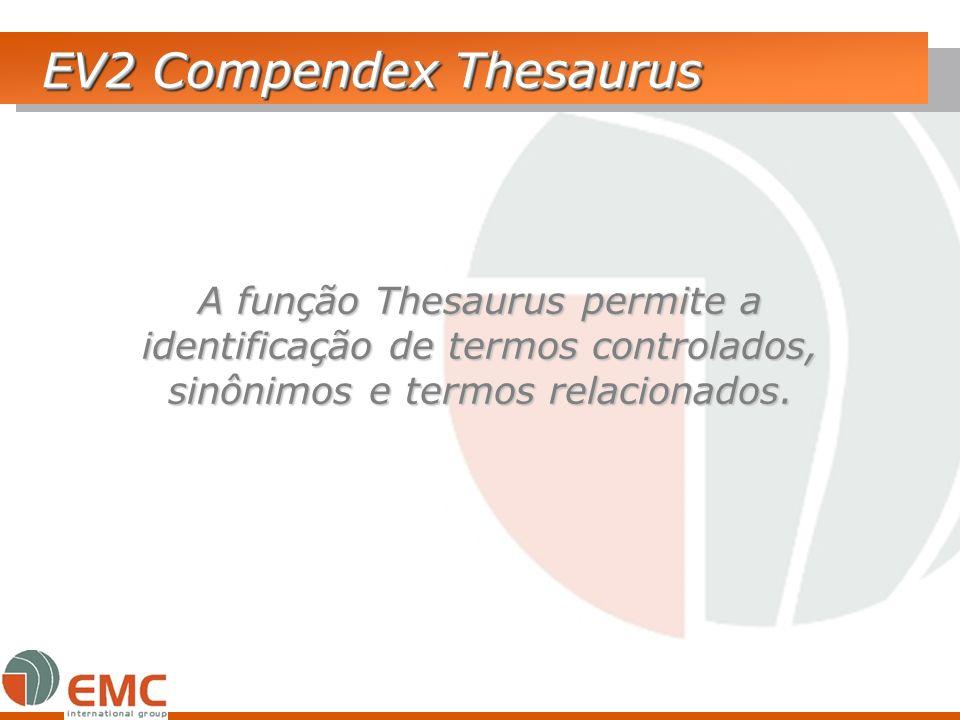 EV2 Compendex Thesaurus