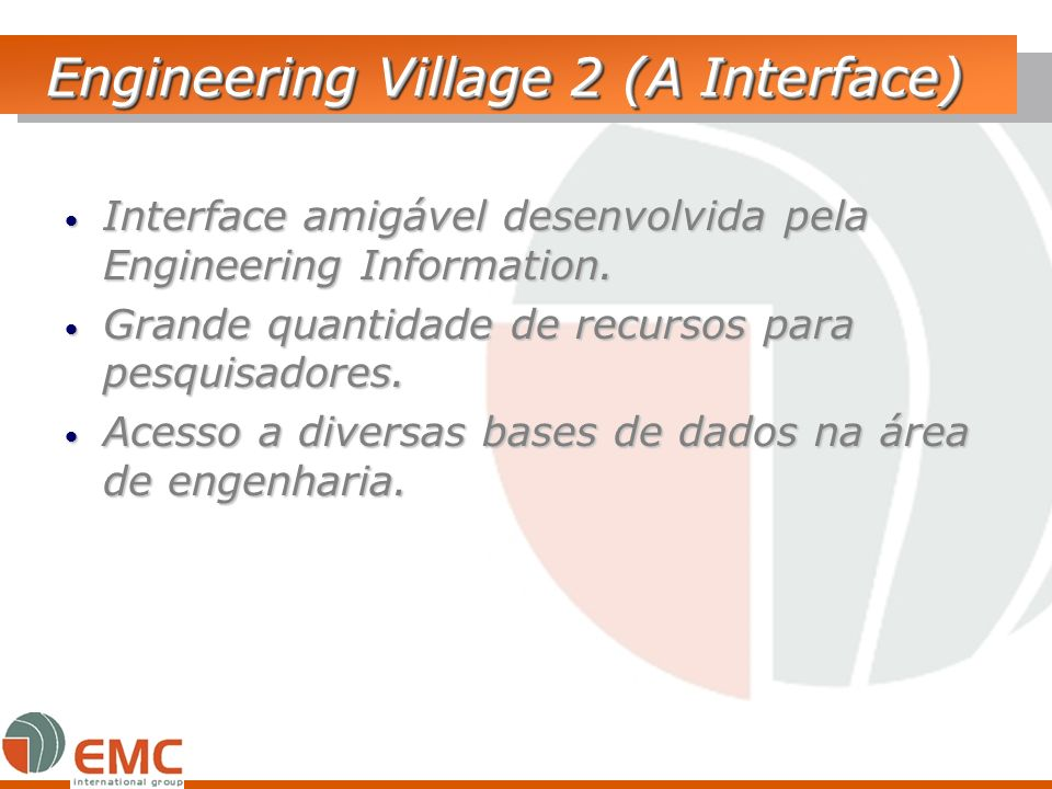 Engineering Village 2 (A Interface)