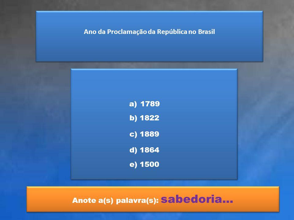 Ano da Proclamação da República no Brasil