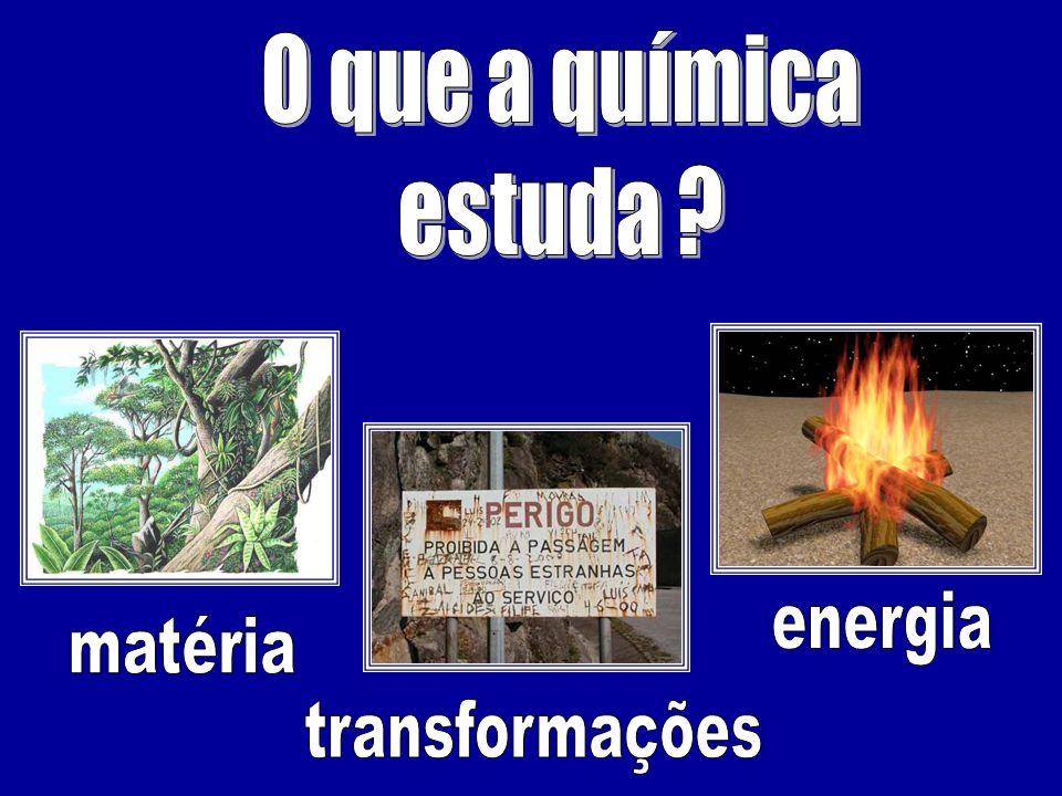 O que a química estuda energia matéria transformações