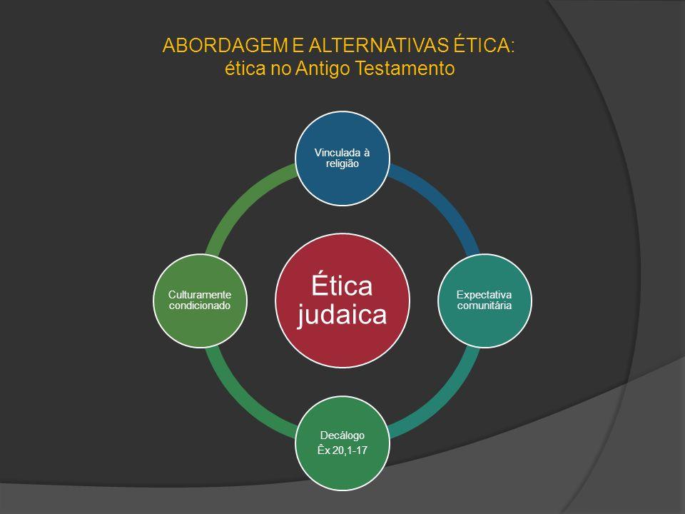 ABORDAGEM E ALTERNATIVAS ÉTICA: ética no Antigo Testamento