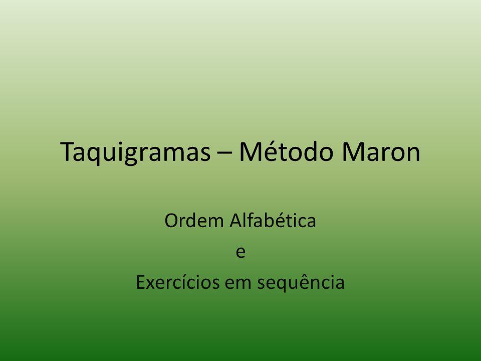 Taquigramas – Método Maron