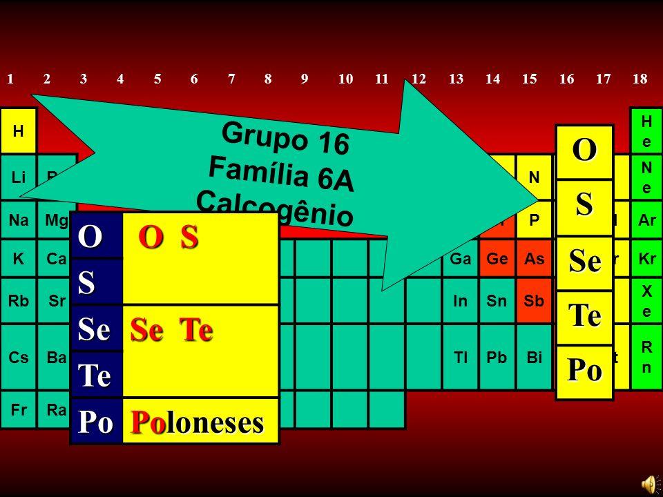 O S Se Te Po O O S S Se Se Te Te Po Poloneses Grupo 16 Família 6A