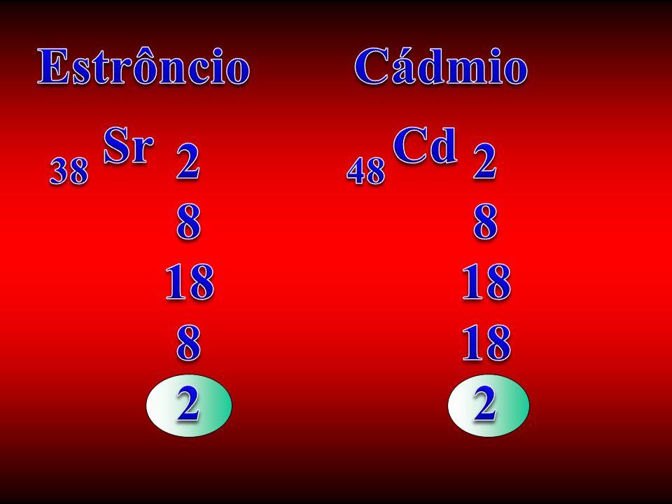 Estrôncio Cádmio Sr Cd 2 8 18 2 8 18 38 48