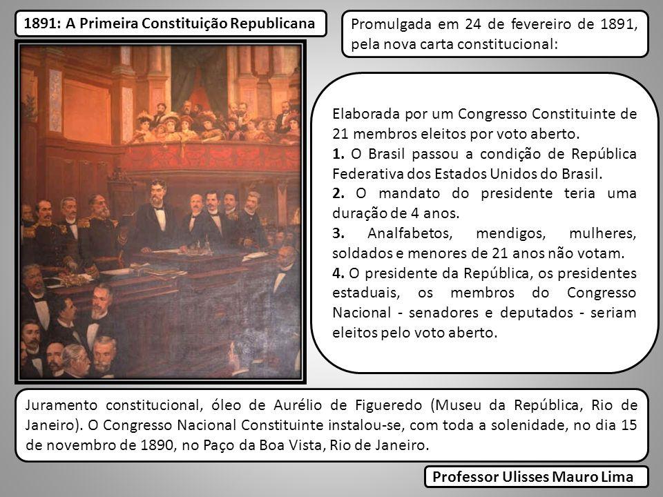 1891: A Primeira Constituição Republicana