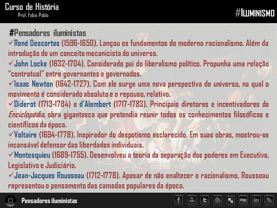 #Iluminismo Curso de História #Pensadores iluministas