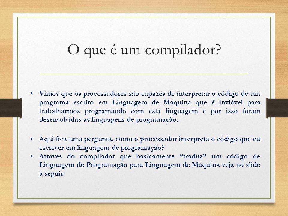 O que é um compilador