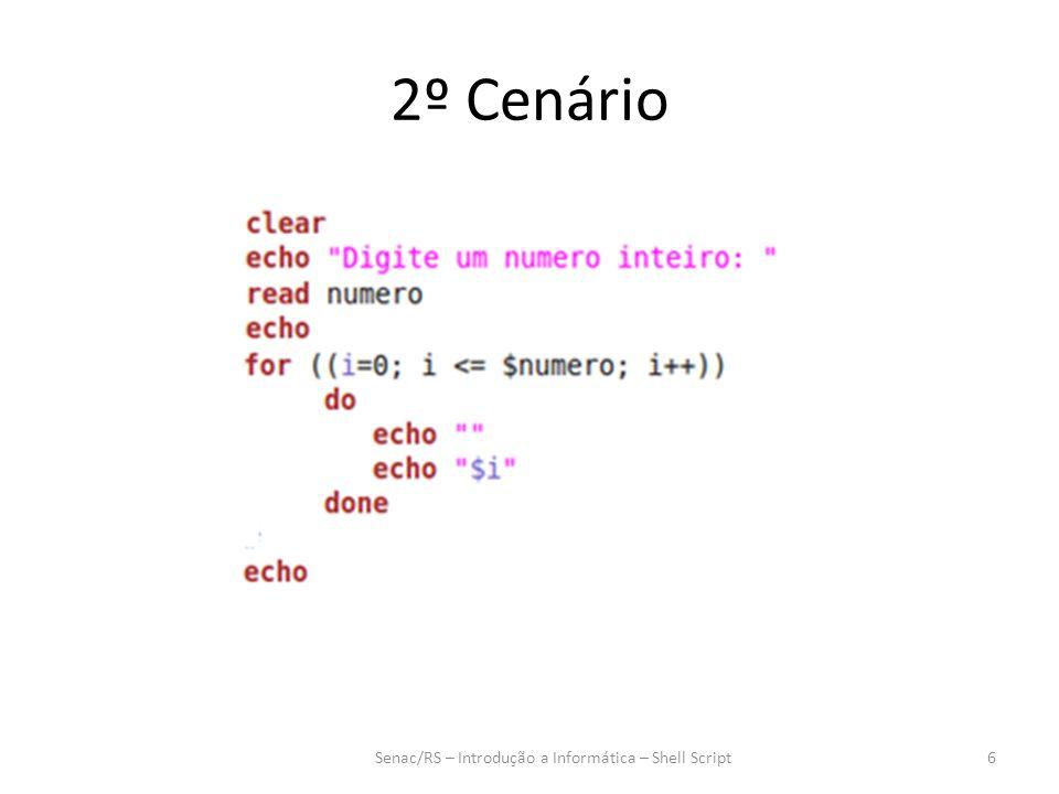 Senac/RS – Introdução a Informática – Shell Script