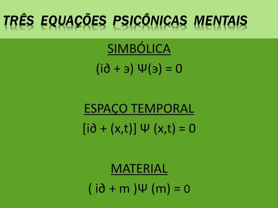 Três equações psicônicas mentais