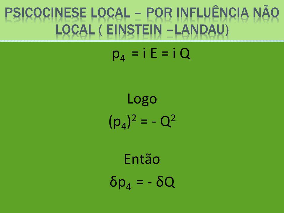Psicocinese local – por influência não local ( einstein –landau)