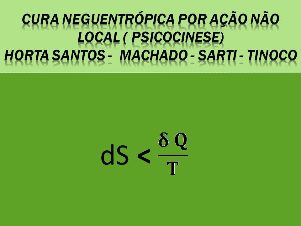 Cura NEGUentrópica por ação não local ( psicocinese) Horta santos - machado - sarti - tinoco