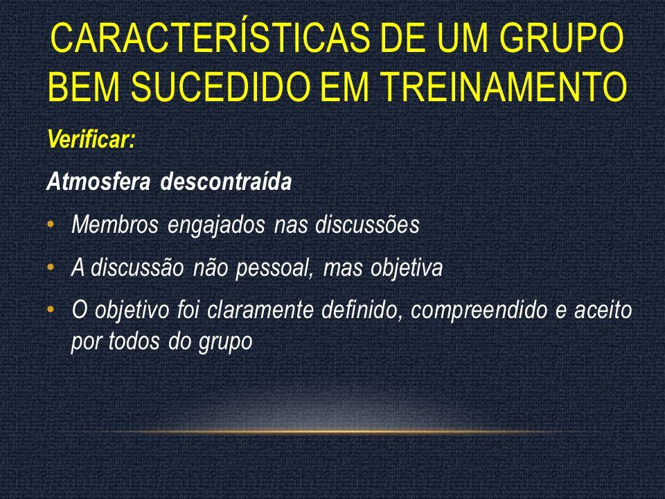 Características de um grupo bem sucedido em treinamento