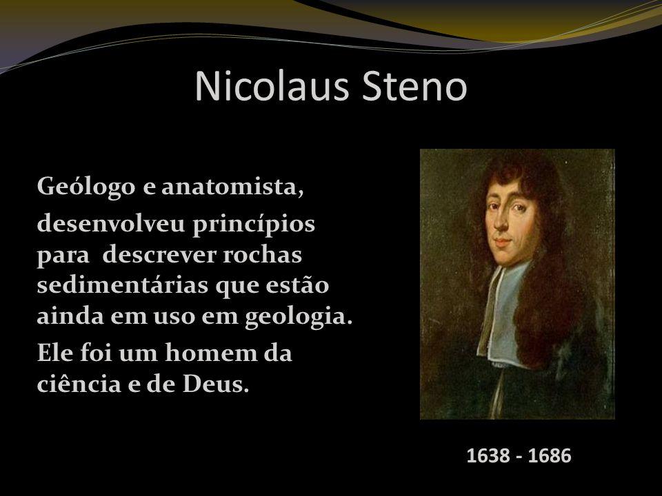 Nicolaus Steno Geólogo e anatomista,