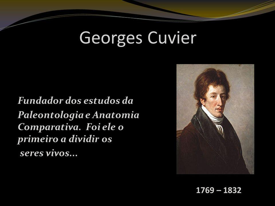 Georges Cuvier Fundador dos estudos da