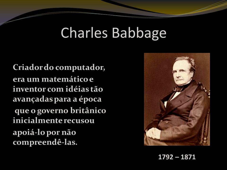 Charles Babbage Criador do computador,