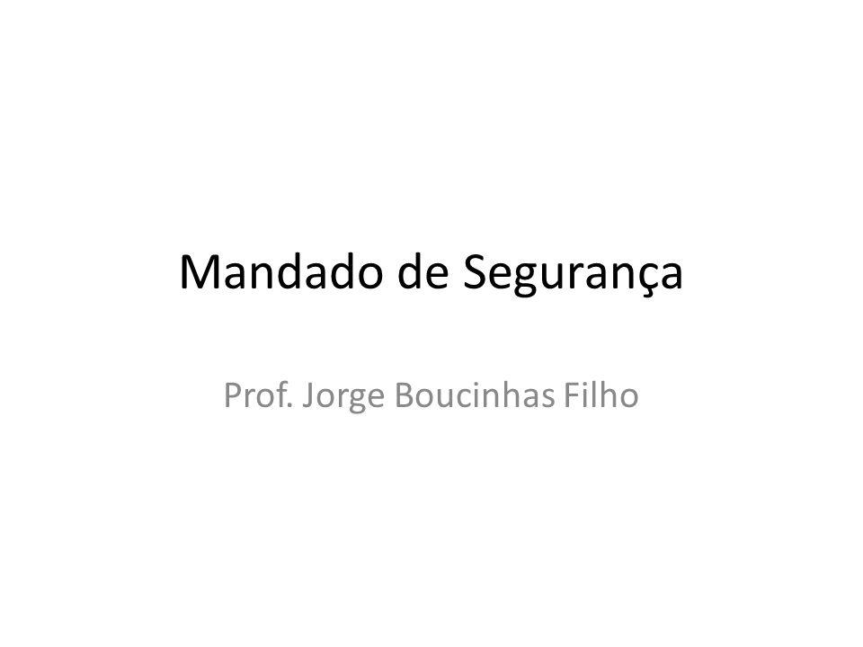 Prof. Jorge Boucinhas Filho