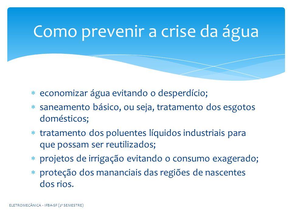 Como prevenir a crise da água