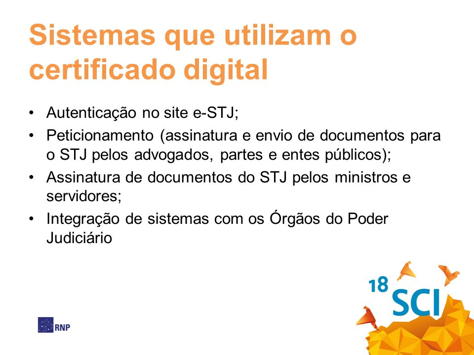 Sistemas que utilizam o certificado digital