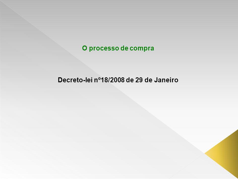 Decreto-lei nº18/2008 de 29 de Janeiro