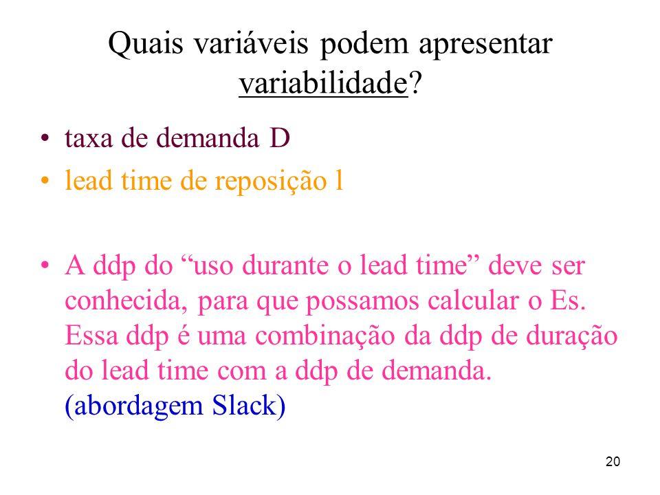 Quais variáveis podem apresentar variabilidade