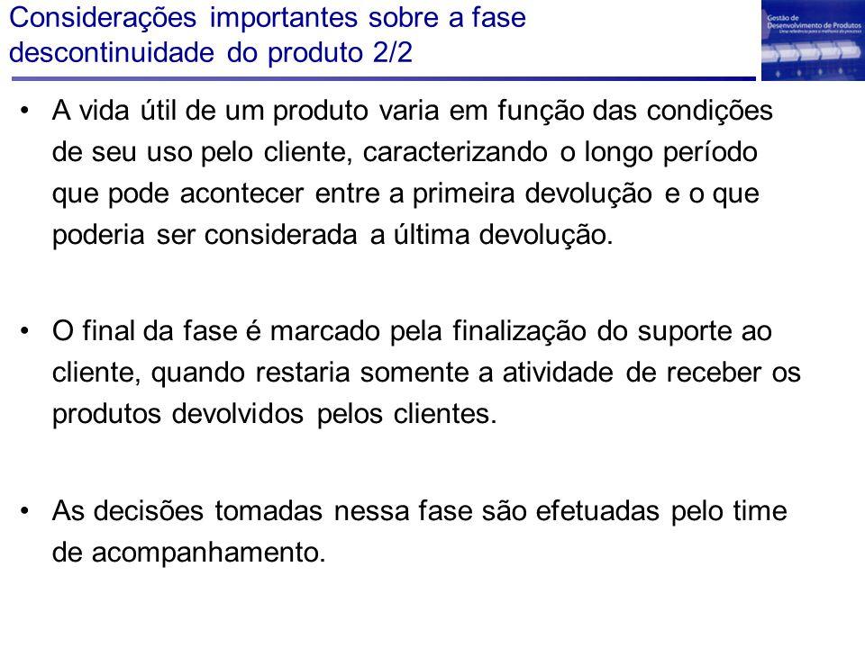 Considerações importantes sobre a fase descontinuidade do produto 2/2