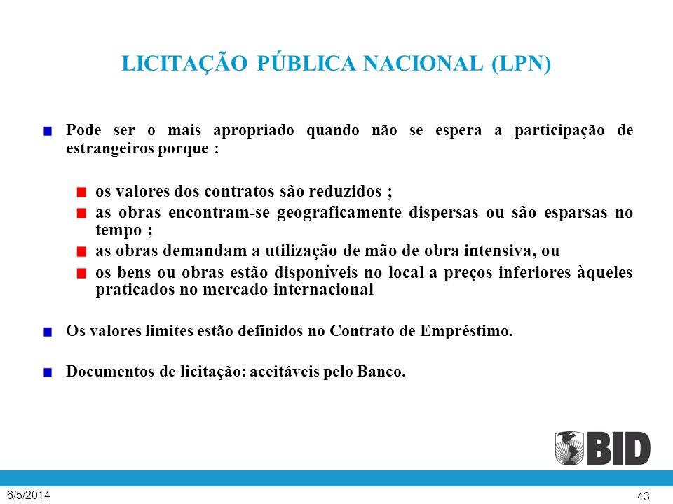 LICITAÇÃO PÚBLICA NACIONAL (LPN)
